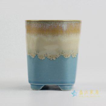 ryyf30-f      陶艺窑变花釉多色直筒花盆
