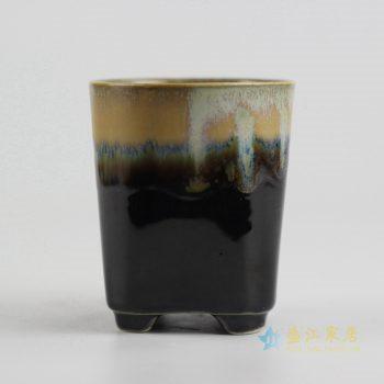 ryyf30-i      陶艺窑变花釉颜色釉直筒花盆