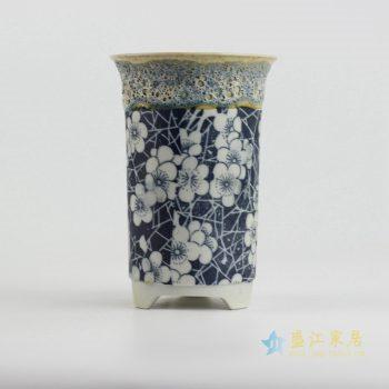 ryyf31-a     陶艺窑变花釉梅花花盆4号