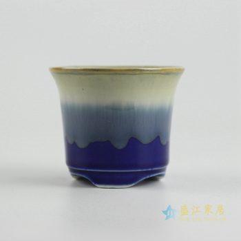 ryyf32-e     陶艺窑变花釉深兰花盆