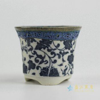 ryyf32-f      陶艺窑变花釉缠枝莲花盆