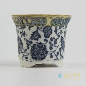 ryyf32-i     陶艺窑变花釉缠枝莲花盆