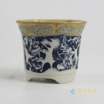 ryyf32-j     陶艺窑变花釉青花花盆