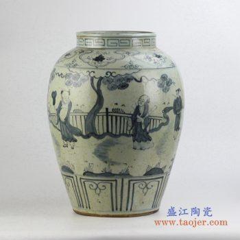 rzfb06     手绘 墨色花瓶花插 艺术摆件品