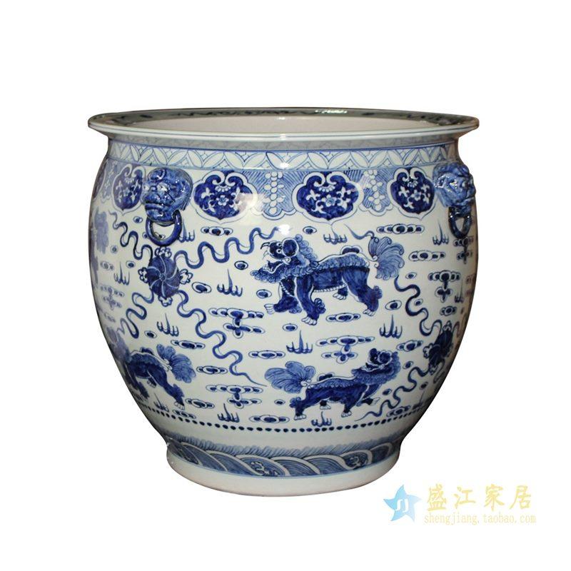 青花 水缸 米缸  花盆  陶瓷大缸