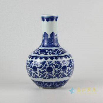 rzfu03-c72-05    青花缠枝莲花瓶花插   摆件品