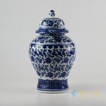 rzfu07-a-c72-23    青花缠枝将军罐