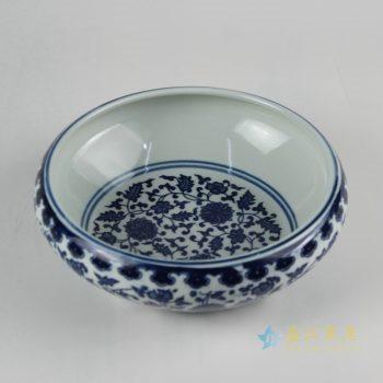 rzfu14-e-100jian-c73   青花缠枝莲水洗水浅 鱼缸