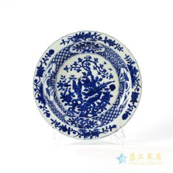 rzhl24    青花手绘月光盆  赏盆 挂盆 瓷盆瓷碟    陶瓷摆件品
