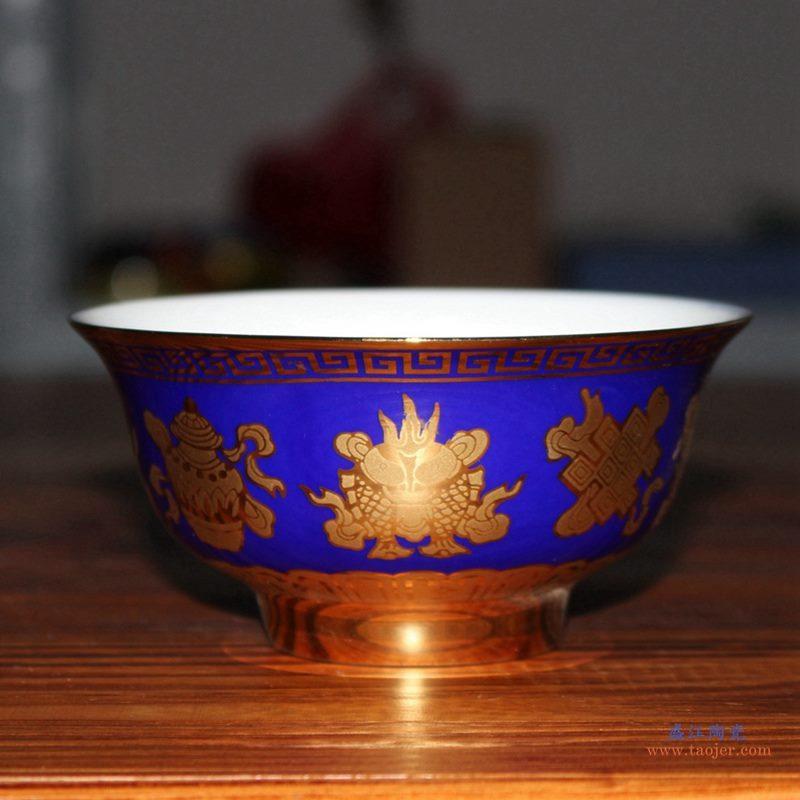 5寸颜色釉米饭碗   陶瓷单碗    汤碗