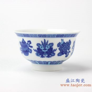 rzhu03-f     青花饭碗    陶瓷单件碗      汤圆碗   厂家直销
