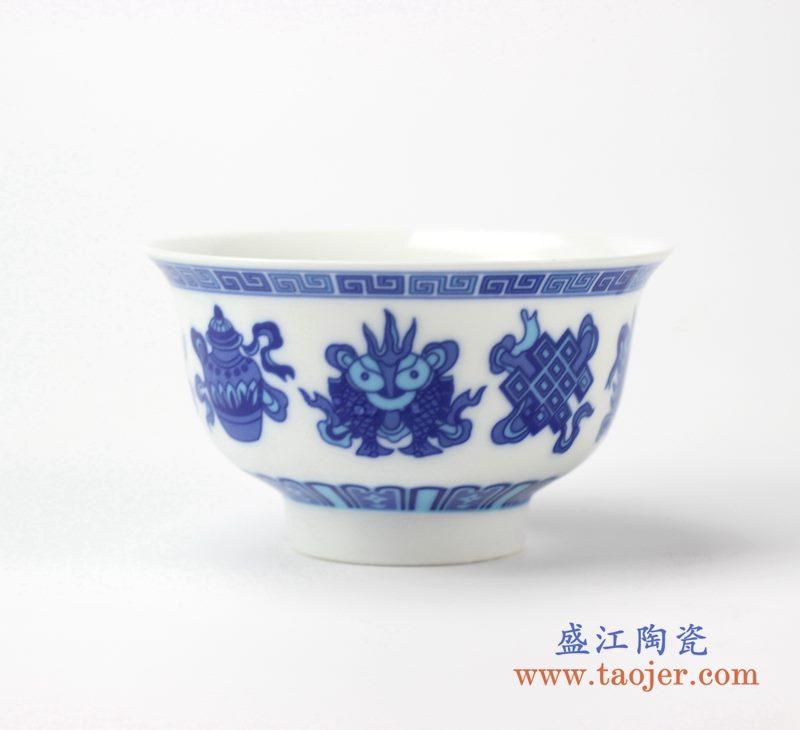 青花饭碗    陶瓷单件碗      汤圆碗   厂家直销