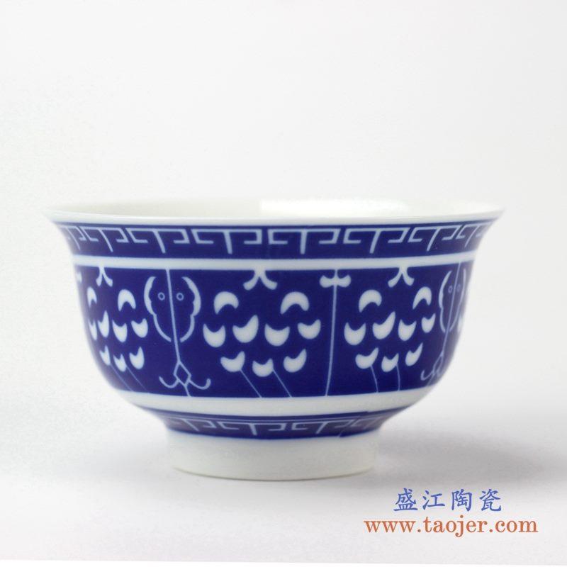 青花 饭碗   陶瓷小汤碗    汤圆碗    厂家直销