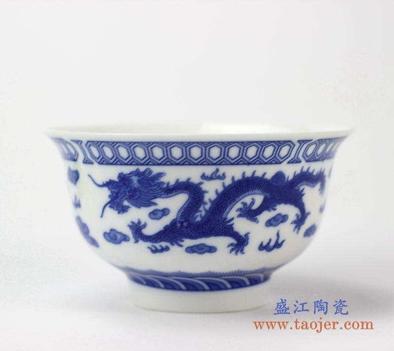 青花龙单碗  饭饭   陶瓷小汤碗  景德镇  厂家直销