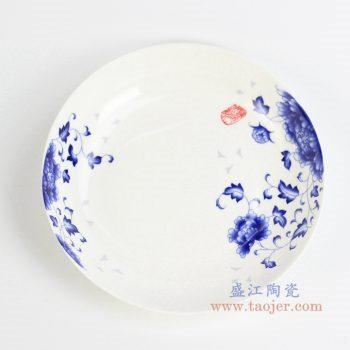 rzhy03-a    国色多姿菜盘   8寸深汤盘    骨瓷 碟