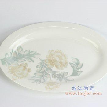 rzhy04-a   骨瓷 牡丹 12寸鱼盘  菜盘  碟子   厂家直销