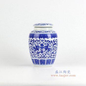 rzix01    青花鱼茶叶罐  储物密封罐   景德镇 特价促销