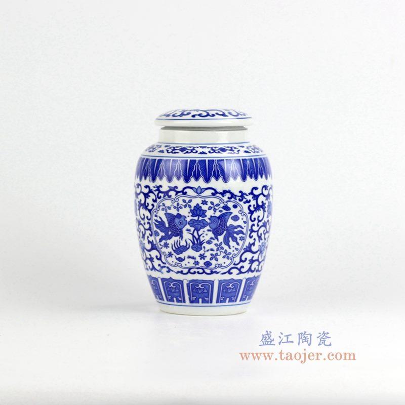 青花茶叶罐  储物密封罐   景德镇 特价促销