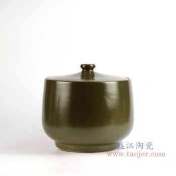 rzja01    茶叶末色20斤米缸油缸  储物罐   密封罐