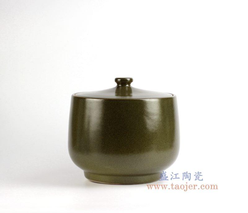 茶叶末色20斤米缸油缸 储物罐 密封罐