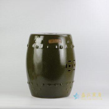 rzjk01    茶叶末色铜钱凳   凉墩   花园凳   浴室换靴凳