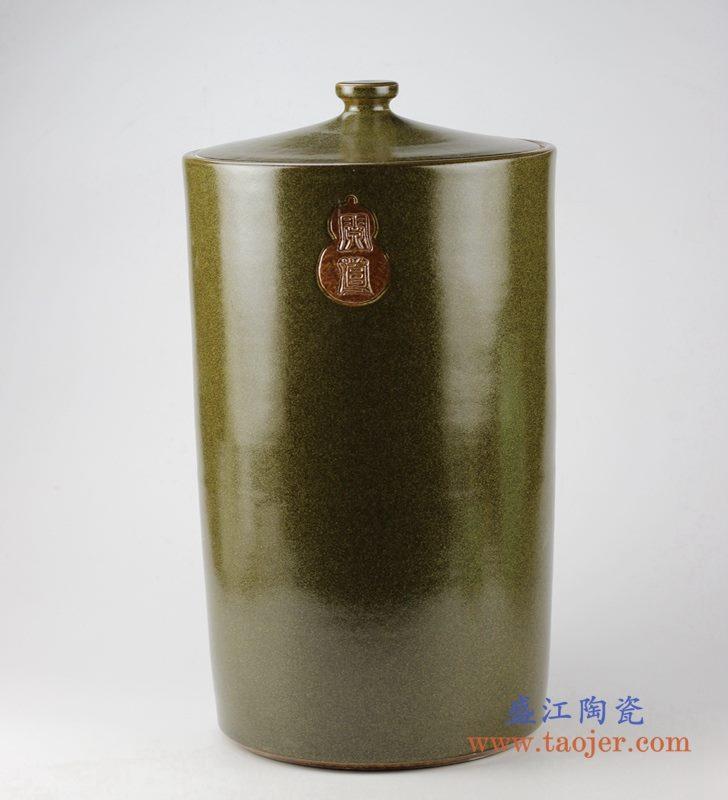 茶叶末色米缸 油缸 储物缸