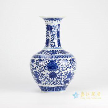 rzjq03     景德镇  青花缠枝莲  花瓶 艺术摆件品 特价促销