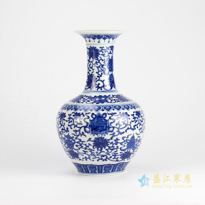 景德镇  青花缠枝莲  花瓶 艺术摆件品 特价促销