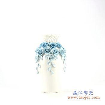 rzju03     手工镂空花朵珐琅彩花瓶   艺术摆件品  厂家直销