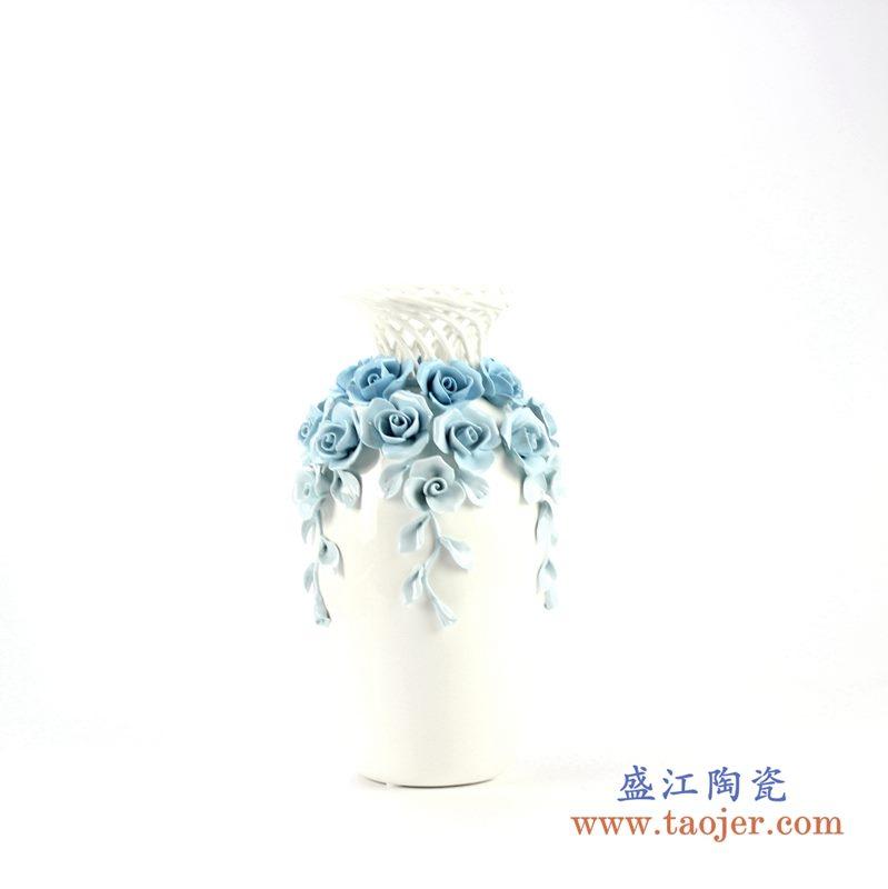 手工镂空花朵花瓶   艺术摆件品  厂家直销