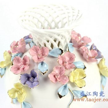 rzju05-2137    手工镂空花朵花瓶   艺术摆件品