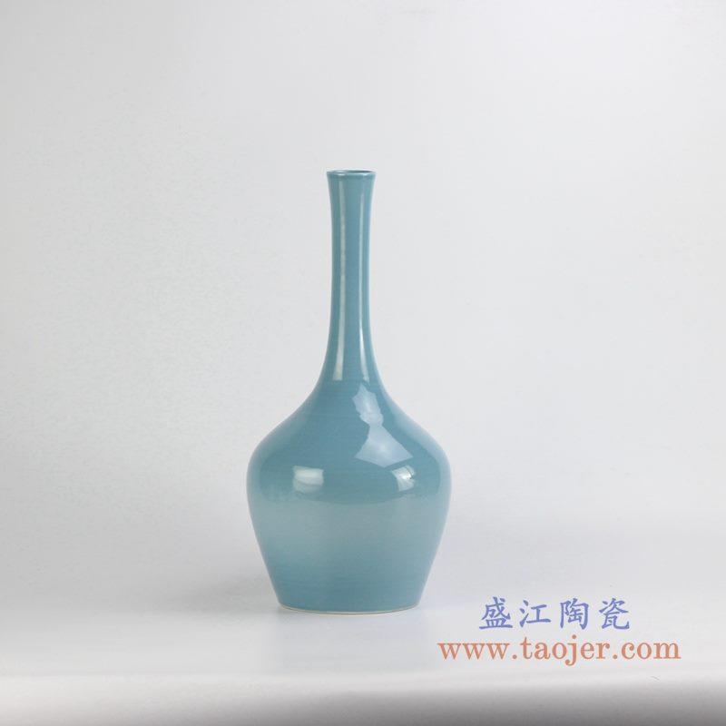 颜色釉天蓝色花瓶花插
