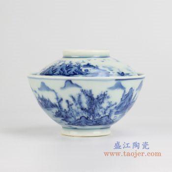 rywd21-c    青花山水汤锅 品锅   餐具用器
