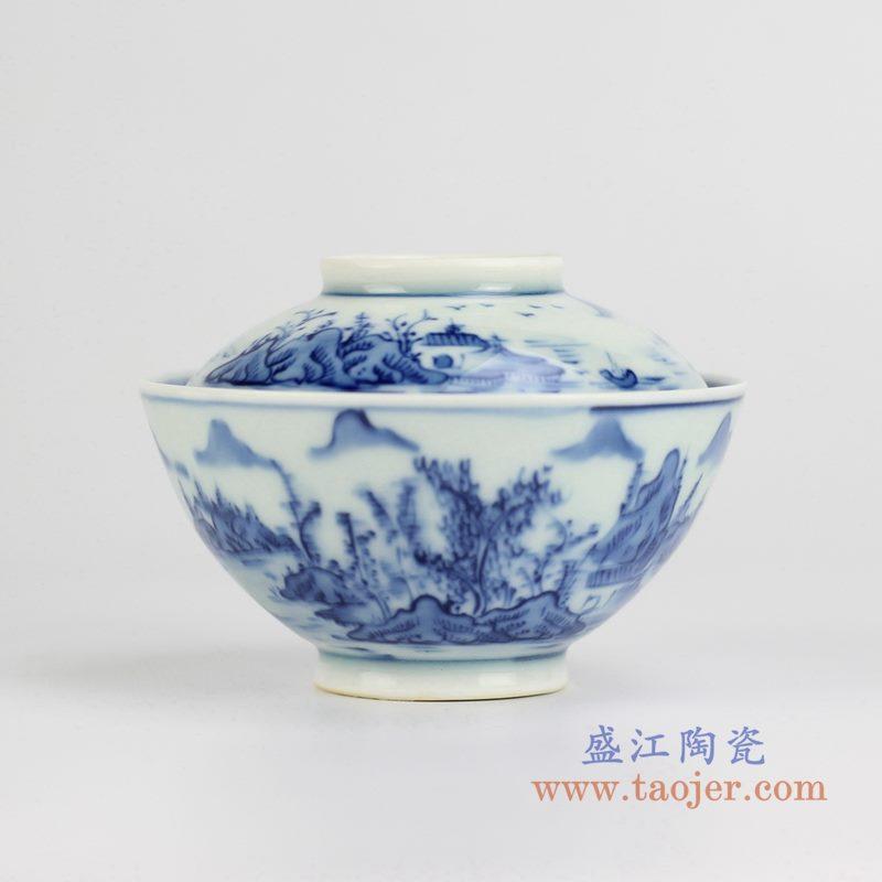 青花山水汤锅 品锅