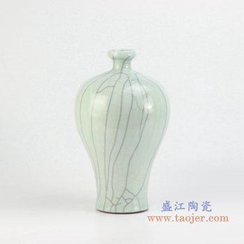 ryxc13-b    青釉黑条纹花瓶  花插 摆件品