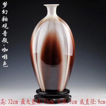 ryyo02-b    梦幻釉 咖啡色 窑变 萝卜 花瓶