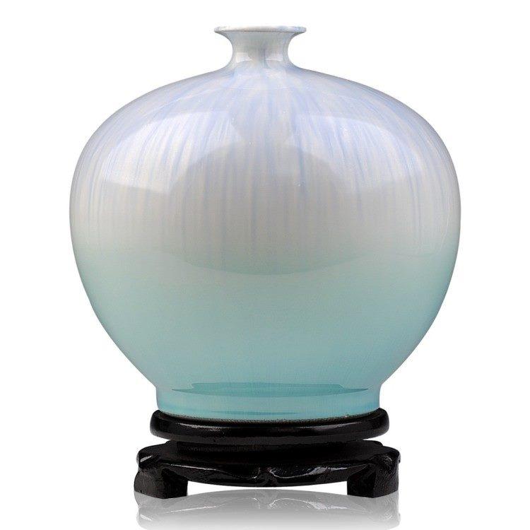 高温颜色釉 梦幻釉 窑变 石榴瓶 不开片 花瓶