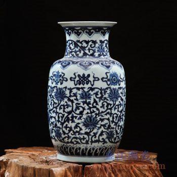 rzfq12-01   全手绘全手工胎 青花缠枝冬瓜瓶  花瓶