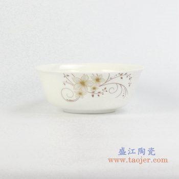 rzhf04-c   6寸骨瓷金边面碗汤碗