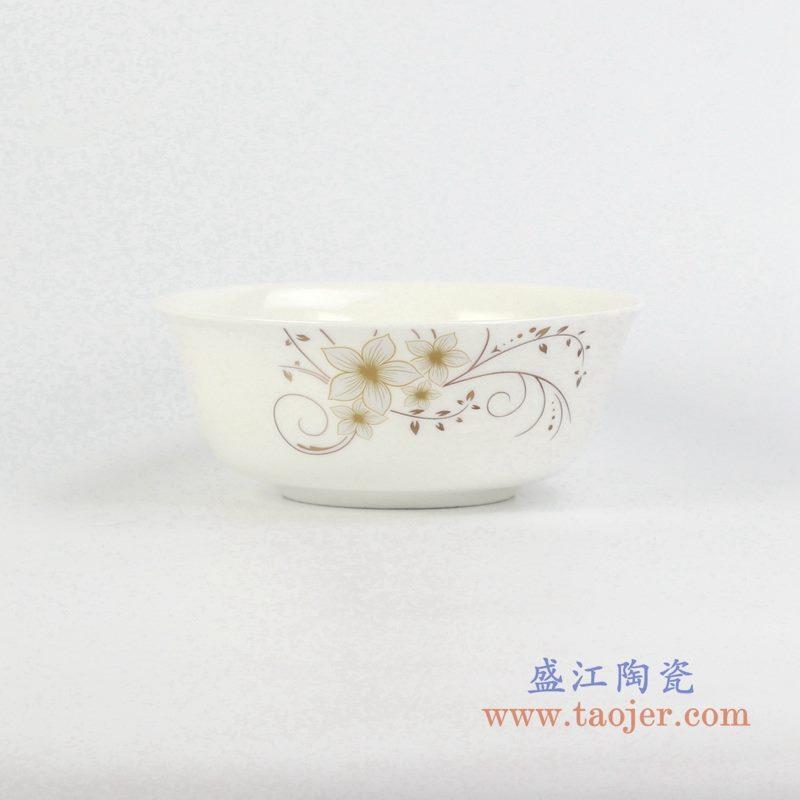 6寸骨瓷金边面碗汤碗