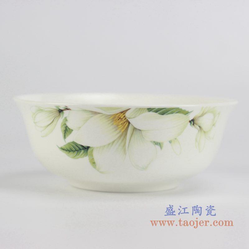 6寸骨瓷百合面碗汤碗餐器用具