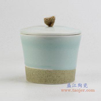 rziv04     青釉陶艺炖盅盐盅 厂家直销