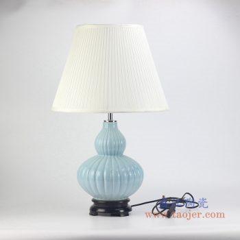 rzjx01 颜色釉兰色台灯灯具
