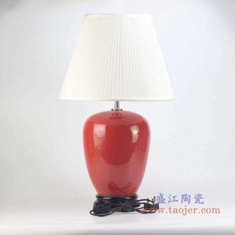 颜色釉红色台灯灯具