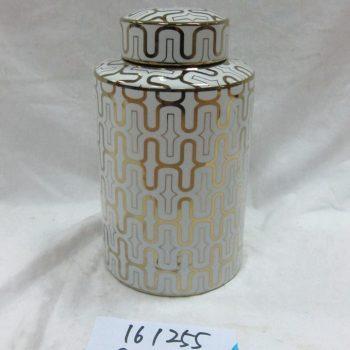 rzka161254 1255  金边 金色线条 直筒茶叶罐 盖罐 糖果罐