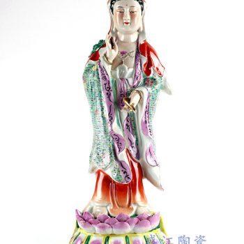 RYXZ16_仿古手绘粉彩 雕塑雕像人物  陈设摆设滴水观音