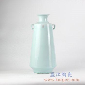 RZJR03_青釉花瓶花插创意陶瓷花器艺术摆件简约现代家居装饰