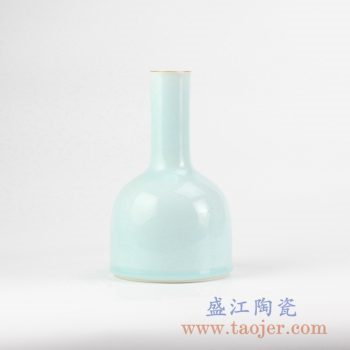 RZJR04_景德镇青釉描金口花瓶花插创意陶瓷花器艺术摆件