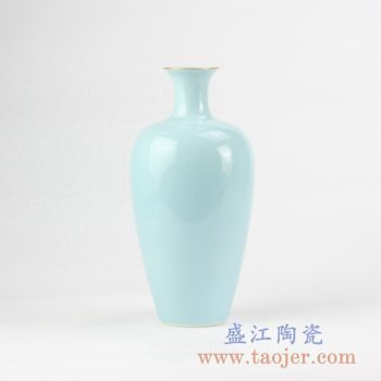 RZJR06_青釉描金花瓶花插创意陶瓷花器艺术摆件简约景德镇