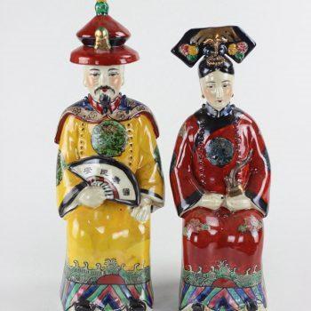 RZKC08_陶瓷雕塑摆件彩绘人物皇帝皇后装饰摆设传统家居装饰